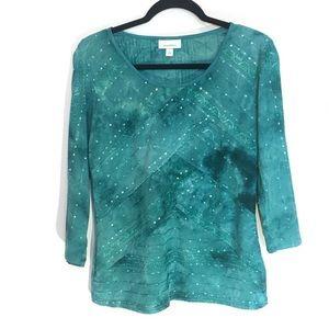 💥2 for $18💥 Tie dye Dressbarn Blouse